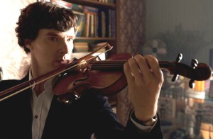 He's supposed to be playing a Stradivari.